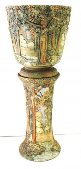 Weller Woodland Forest Pottery Jardiniere