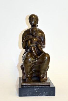Henry Moore(after); Bronze Grouping Signed