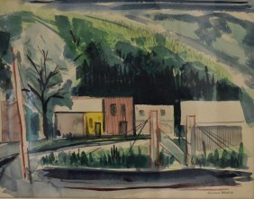 R.w. Smith; 20thc. American Watercolor Signed