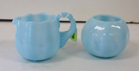 Pairpoint Glass Sugar And Creamer