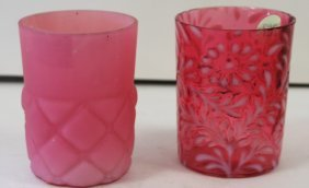 Two(2) Victorian Glass Tumblers