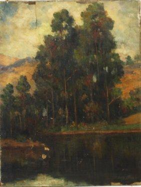 Bertha Stringer Lee; American Oil Painting Signed