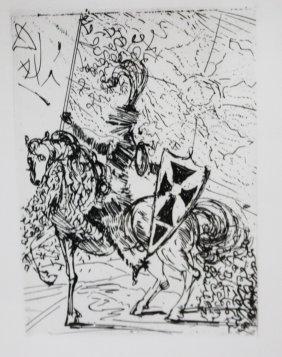 Salvador Dali; Original Etching El Cid