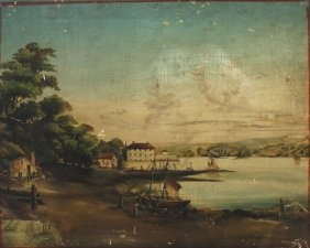 Early Oil Painting Along The River