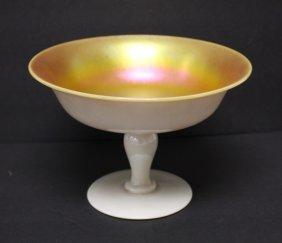 Steuben Calcite Art Glass Compote