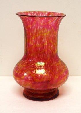 Loetz Style Art Glass Vase