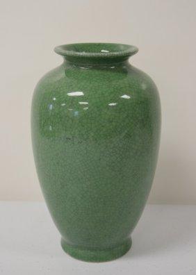 Chinese Crackle Glaze Celedon Porcelain Vase