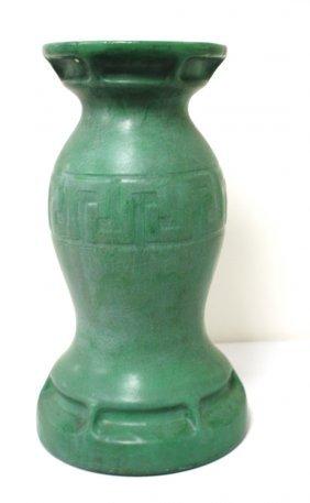 Arts & Crafts Glazed Pottery Pedestal
