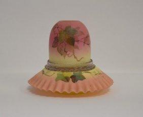 Webb Enameled Burmese Glass Fairy Lamp