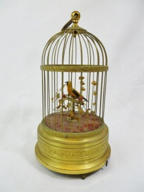 Karl Griesbaum Automated Songbird In Brass Cage