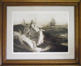 Three Nantucket Whaling Etchings, Jack Coughlin