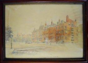 Watercolor, Frederick Leo Hunter (1858-1943), 1880