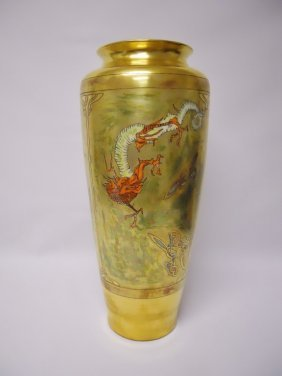 Tressemann & Vogt (t & V) Limoges Gold Lustre Vase