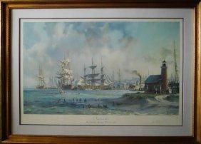 Lithograph, Nantucket, John Stobart
