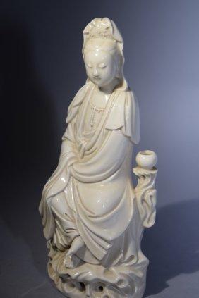 Qing Chinese Blanc De Chine Guanyin
