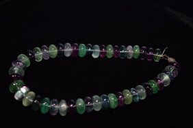 Chinese Colored Crystal Bead Necklace