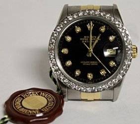 18k Diamonddial Datejust Rolex Watch