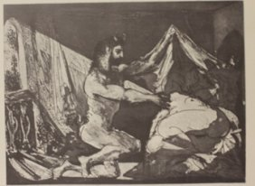 Satyr And Sleeping Women - Lithograph - By Picasso
