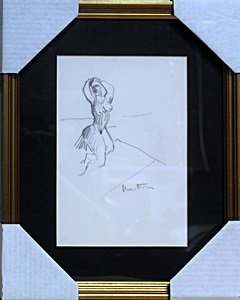 Framed Pencil Drawing - Signed H. Matisse