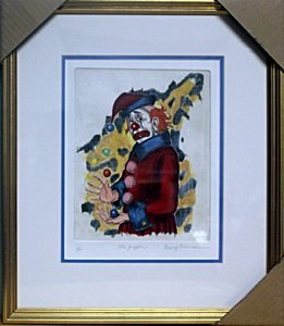 The Juggler Limited Edition Etching - G. Crionas