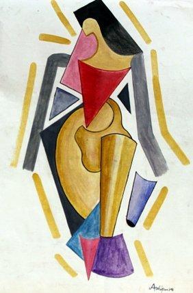 Woman 1933' - Watercolor - A. Archipenko