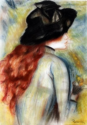 Ms Catalina - Pastel Drawing - Pierre Auguste Renoir