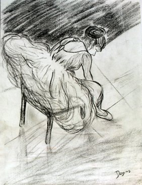 The Dancer - Drawing On Paper - Edgar Degas