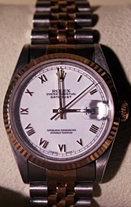 Two-tone Datejust Rolex Wrist Watch