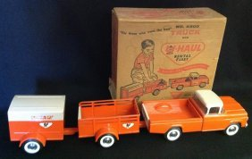 1960's Nylint 3 Pc U-haul Truck Rental Fleet No. 4300