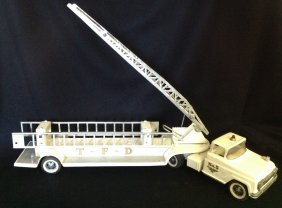 1960's White Tonka #5 Hook And Ladder Fire Truck