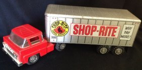 1960s Marx Litho Shop-rite Tractor Trailer Truck