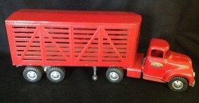 1956/57 Tonka Cattle Truck & Trailer Toy