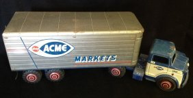 1950's Marx Lumar Litho Acme Markets Truck #1151