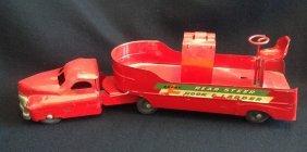 1950's Buddy L Rear Steer Hook & Ladder Fire Truck