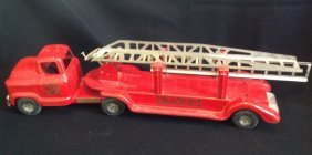 1950's Buddy L Ladder Fire Truck #6