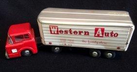 1940's/50's Marx Western Auto Tractor Trailer Truck