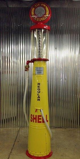 Professionally Restored Gilbarco Shell Visible Gas Pump