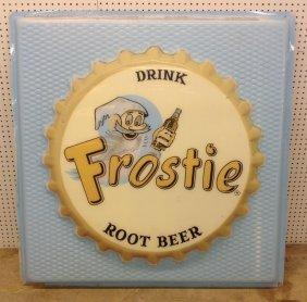 1950's Plastic Frostie Root Beer Sign