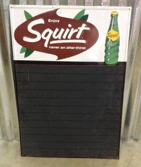 1966 Enjoy Squirt Menu Sign