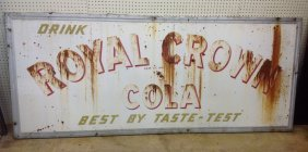 1948 Royal Crown Cola Embossed Sign