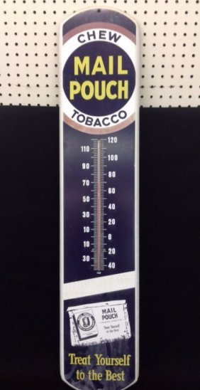 Mail Pouch Chew Tobacco Thermometer