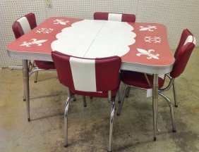1950's Kitchen Table Set W/4 Chairs