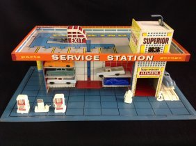 1950's Litho Superior Service Station