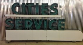 Cities Service Dealership Neon Sign