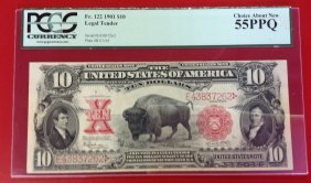 1901 $10 Bison Note 55ppq