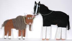 Mamie Deschillie.  Buffalo And Horse.