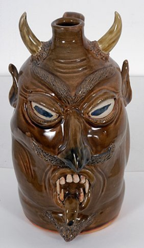 Wilford Dean Devil Face Jug.