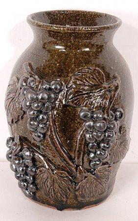 David & Anita Meaders Grape Vase.