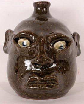 Anita Meaders Small Face Jug.
