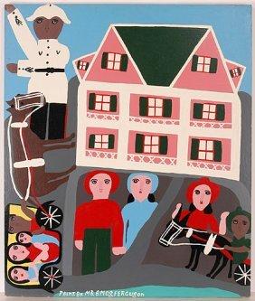 Amos Ferguson. Policeman & Pink House